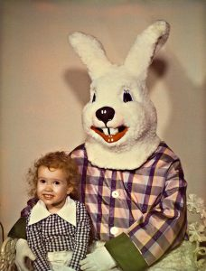 Little Stevi with Easter Bunny