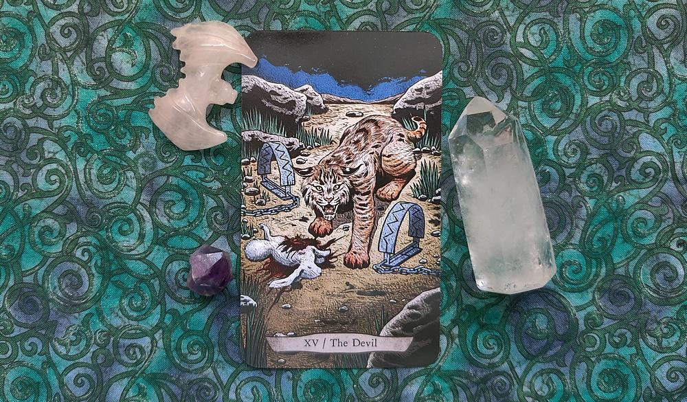 The Devil Bobcat from Animal Totem Tarot.
