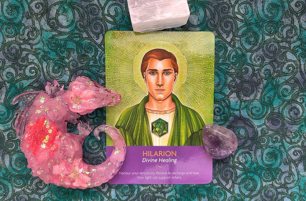 Hilarion from Keepers of the Light Oracle Deck.