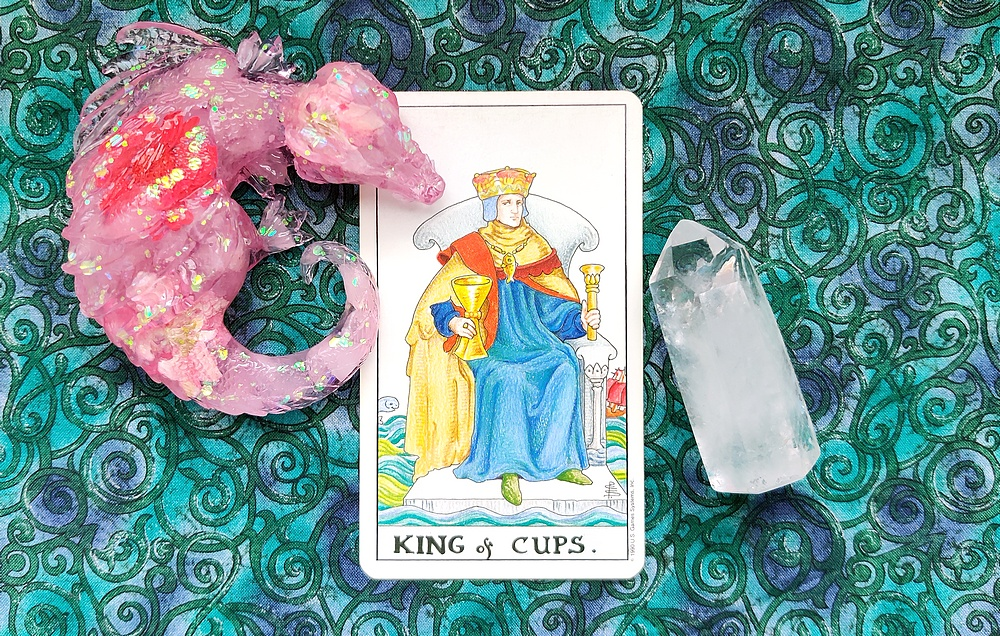 King of Cups from the Universal Waite Tarot Deck.