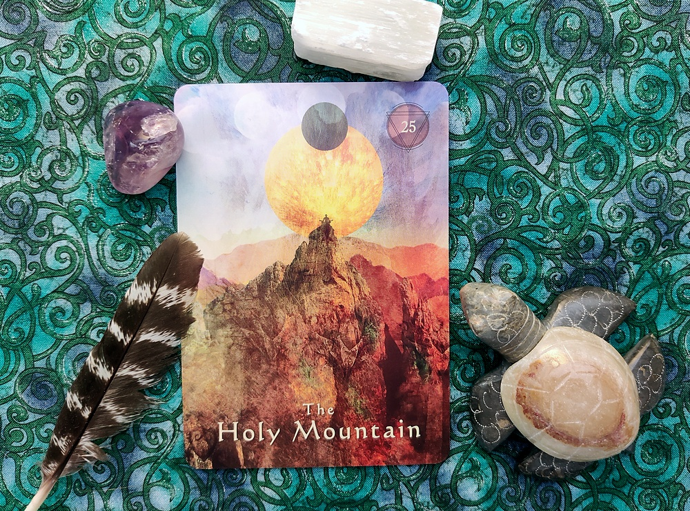The Holy Mountain from the Mystical Shaman Oracle Card Deck.